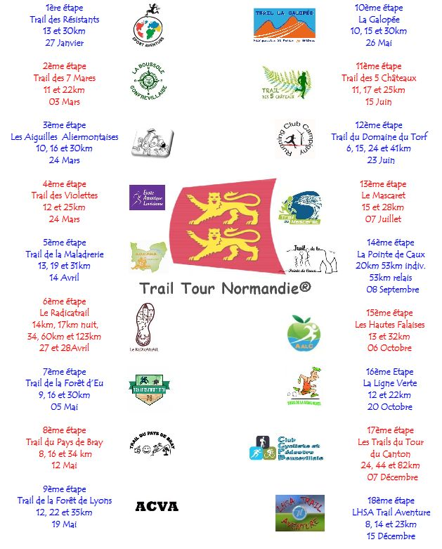 Trail Calendrier 2019.Trail Tour Normandie C Running Bray Course A Pied